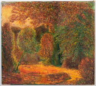 """Allen Tucker """"Autumn"""" Oil on Canvas"""