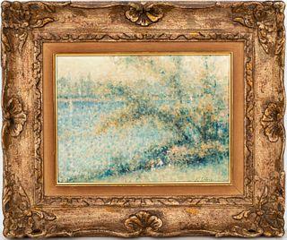 André Gisson Impressionist Landscape Oil on Canvas