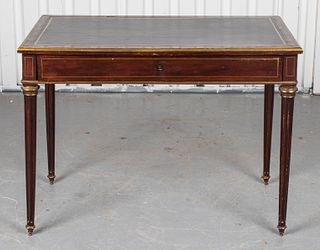 Louis XVI Brass And Mahogany Writing Table