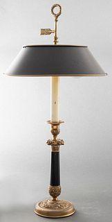 Empire Style Gilt Bronze Bouillotte Lamp