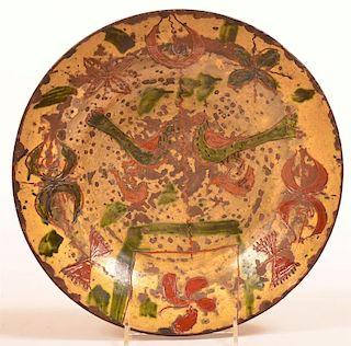 PA 18th Century Sgraffito Redware Bowl.