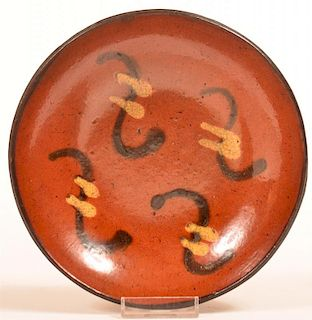 Willoughby Smith Womelsdorf Redware Plate.