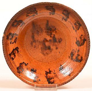 Pennsylvania Redware Bowl.