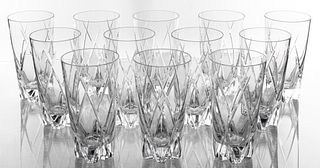 Faberge Triomphe Clear Crystal Glasses, 12