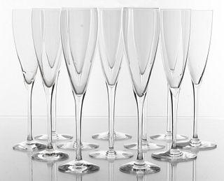 Assembled Champagne Flutes incl. Baccarat, 12