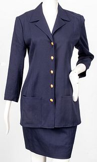 Chanel Navy Blue Skirt Suit