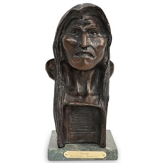 "Attrib. Frederic Remington ""The Savage"" Bronze Sculpture"