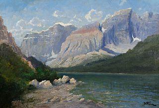 John Fery (1859–1934) — Mount Cleveland from Grossley Lake
