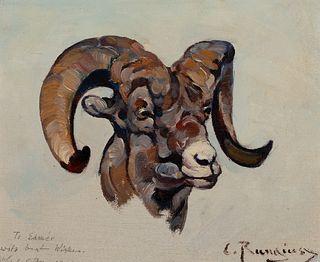 Carl Rungius (1869–1959) — Ram Head