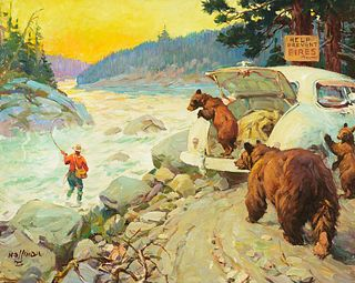 Frank B. Hoffman (1888–1958) — Taking Over [or] Bear Country