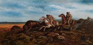 A. D. M. Cooper (1856–1924) — Buffalo Hunt in Dakota (1906)