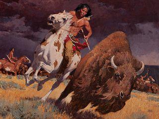 David Mann (b. 1948) — The Horse Made Him Master