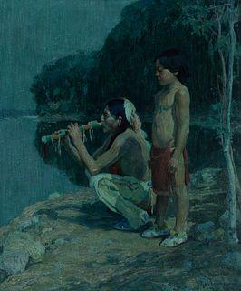 Eanger Irving Couse (1866–1936) — Moonlight Sonata