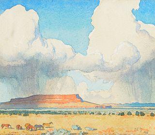 Maynard Dixon (1875–1946) — Rain on the Mesa (1945)