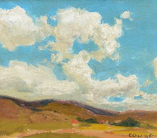 Eanger Irving Couse (1866–1936) — Clouds Over Taos Valley