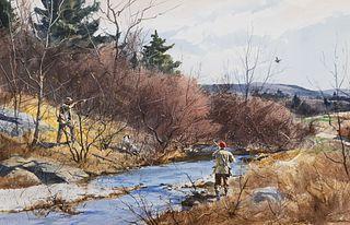Ogden M. Pleissner (1905–1983) — A Chance Shot - Woodcock