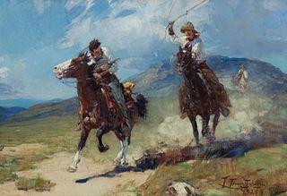 Frank Tenney Johnson (1874–1939) — The Horse Thief (1925)