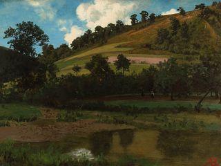 Albert Bierstadt (1830–1902) — Hanabach, Westphalia, Germany (1856)