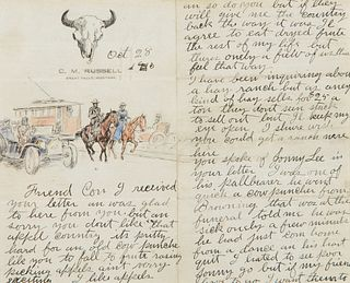 Charles M. Russell (1864–1926) — Friend Con Letter (1910)