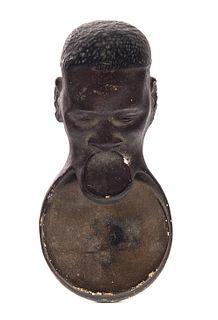 Black Americana Folk Art Tip Tray