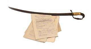 1810 Lt. John Tucker's War of 1812 Sword