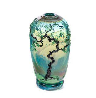 John Nygren 1989 Art Glass Vase #3582