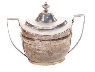Eoff & Howell Coin Silver Sugar Bowl