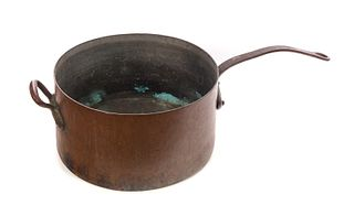 Early Handmade Copper Candy Kettle