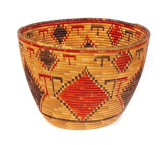 Large Early Native American Basket