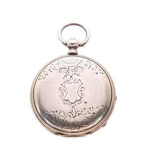 Robert Brandt Geneva KWKS Coin Silver Pocket Watch