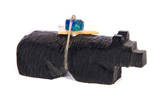 Zuni Shieyo Mahoyty Native American Stone Bear E…