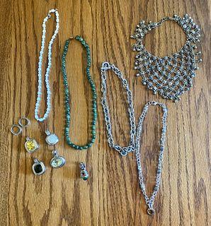 7pc Jade Pearl & Designer Jewelry