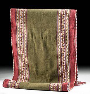 20th C. Bolivian Aymara Woven Wool Textile