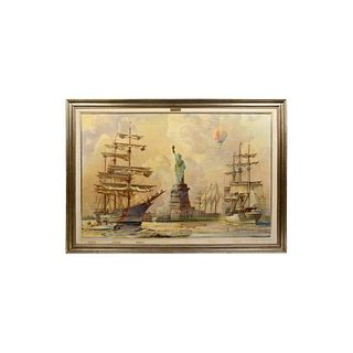Kipp Soldwedel Operation Statue of Liberty Oil Painting