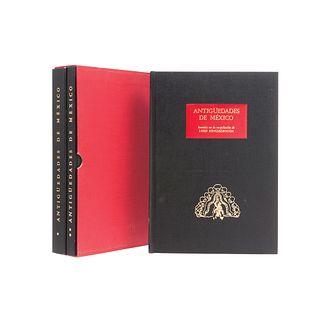 Corona Nuñez, José. Antigüedades de México, basadas en la Recopilación de Lord Kingsborough. México,1964. Tomos I-III. 3pzs en 2estuchs