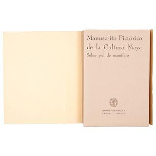 Porrúa, Manuel (Editor). Manuscrito Pictórico de la Cultura Maya, sobre la Piel de Mamífero. México, 1957. Edición de 500 ejemplares.