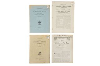 León, Nicolas. Catálogos de Antigüedades / Boletín / Estudio Etnográfico. México, 1903 / 1904 / 1924. Piezas: 4.