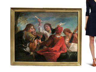 Philippe Mercier (German, 1689-1760) Large Oil / Canvas