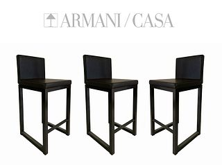 Armani / Casa Modern Bar Stools (Set of 3)