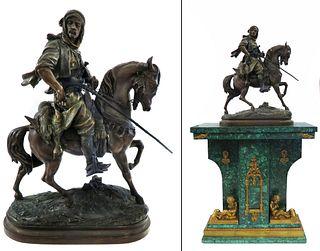 Orientalist Hunter, Emile Guillemin Sculpture, 19th C.