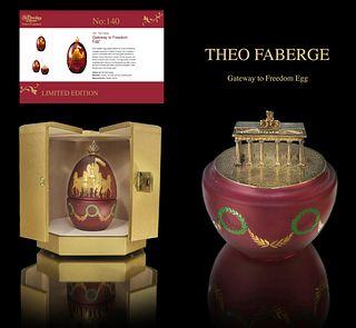 Faberge Gateway to Freedom Egg by Theo Faberge, COA