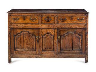 A George I Oak Serving Cabinet