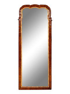 A George I Parcel Gilt Walnut Pier Mirror