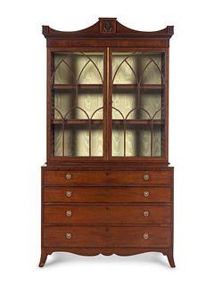 "A George III Mahogany ""Rent Collector's"" Secretary Bookcase"