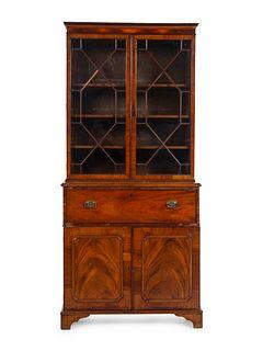 A George III Mahogany Secretary Bookcase