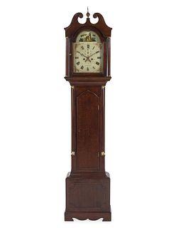 A George III Oak Tall Case Clock
