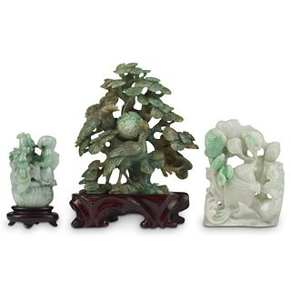 Grp: 3 20th c. Chinese Jade Carvings