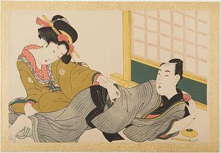 Set of 5 Eizan Kikugawa Japanese Woodblock Prints