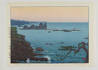 """Toshi Yoshida """" Irozaki Morning"""" Print"""