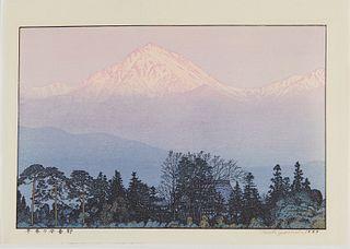 Toshi Yoshida Japanese Woodblock Print Mountains